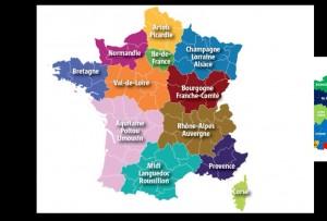 la carte des Regions